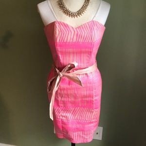 Pink and Cream Strapless HM dress
